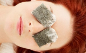 Place a tea bag one each eye for 5 minutes and your eyes will look and feel refreshed