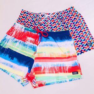 Funky Trunks Shorty Shorts in Zag Ziggler and Dye Hard