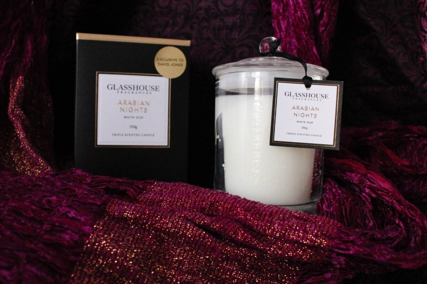 Mr Neo Luxe Glasshouse Fragrances Arabian Nights Candle