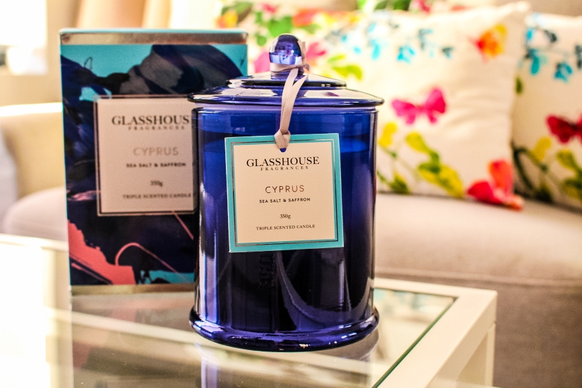 MR Neo Luxe Glasshouse Fragrances Limited Edition Cyprus Candle