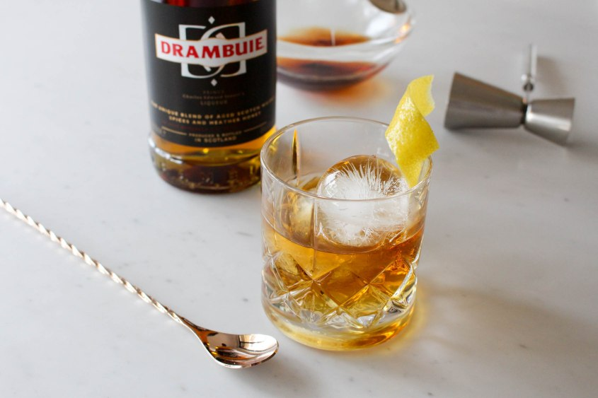 Mr Neo Luxe Rusty Nail Cocktail Drambuie Sydney Jazz Bar Swinging Cat